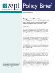 Refugees from War in Iraq - Migration Policy Institute