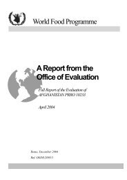 Full Report of the Evaluation of AFGHANISTAN - WFP Remote ...