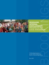 Resolving inteRnal Displacement: ProsPects for LocaL IntegratIon