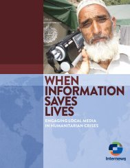 When Information Saves Lives: Engaging Local Media in - Internews