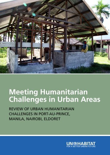 Meeting Humanitarian Challenges in Urban Areas - Irin