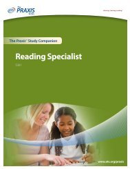 Reading Specialist - ETS