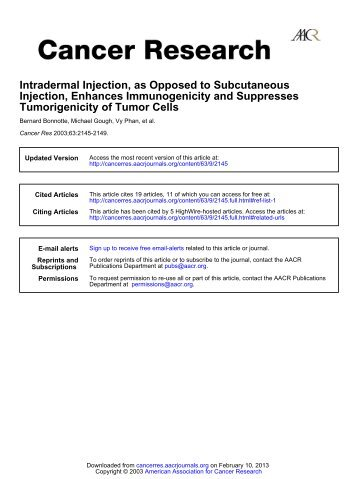documentation on intramuscular injections