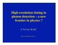 High-resolution timing in photon detection - Www Group Slac Stanford