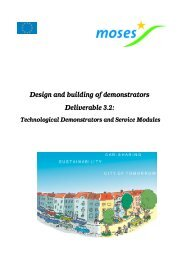 Design and building of demonstrators Deliverable 3.2: - Communauto