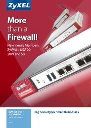 More than a Firewall! - ZyXEL
