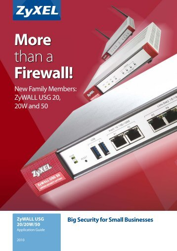 More than a Firewall! - ZyXEL