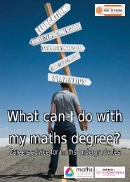 What can I do with my maths degree? - Maths Careers