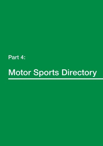 Part 4 Motor Sports Directory - MSA