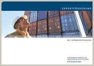 Infobroschüre Exportförderung mit Hermesdeckungen