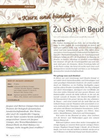 als PDF Dateu zum herunterladen - Domaine de Beudon