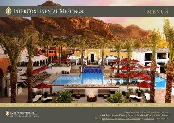 Event Menu - InterContinental Hotels Group