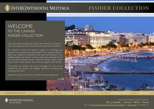 view our insider collection (pdf) - InterContinental Hotels Group
