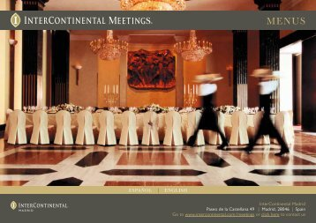 Menú Para Eventos - InterContinental Hotels Group