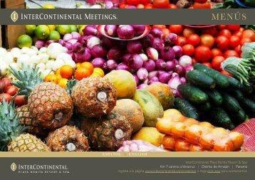 MENÚS - InterContinental Hotels Group