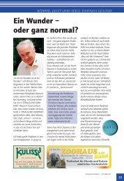 Gesundheit Teil 11 Ein Wunder - oder ganz nomal - Ostseereporter ...