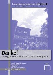 Danke! - Evangelische Tersteegen Kirchengemeinde Düsseldorf