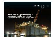 Prosjekter og utfordringer - Norsk Industri