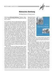 Nietzsches Denkweg - Wort und Wissen