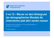 Vortrag 5 vor 12 Dr. Michael Neumann - WFL - Wirtschaftsförderung ...
