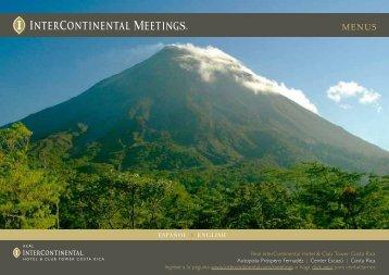Menus - InterContinental Hotels Group