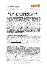 1211 Wohlfühlhaus - Ziegelwerk Eder GmbH & Co KG