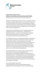 Kleinen und mittleren Unternehmen jetzt helfen - Bürgschaftsbank ...
