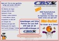 Anmeldungen und Infos Patricia De Luca Gull 079 668 ... - Mini Basket