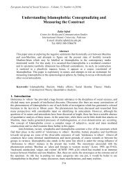 Understanding Islamophobia: Conceptualizing and ... - EuroJournals