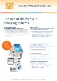 The role of the media in changing markets - BVA Bielefelder Verlag
