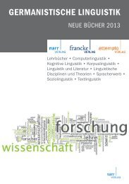 GERMANISTISCHE LINGUISTIK - Gunter Narr Verlag/A. Francke ...