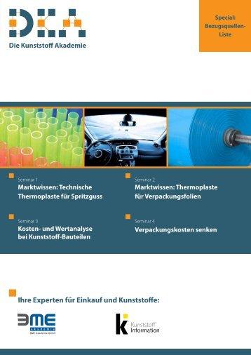 Ihre Experten für Einkauf und Kunststoffe: - KI Kunststoff Information