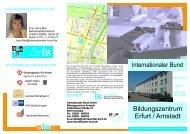 Flyer Arnstadt - Internationaler Bund