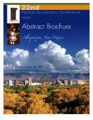 Abstract Brochure - PAC07