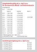 Tariftabellen Bayerische Metall- und Elektroindustrie 2011 - Seite 2