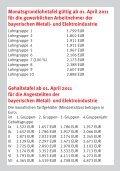 Tariftabellen Bayerische Metall- und Elektroindustrie 2011 - Seite 3