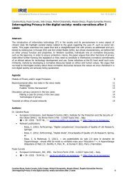 Interrogating Privacy in the digital society: media narratives after 2 ...