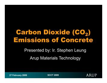 Carbon Dioxide (CO ) Emissions of Concrete