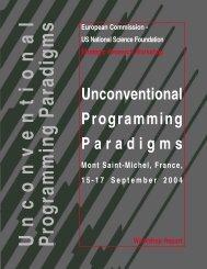Unconventional Programming Paradigms - ERCIM