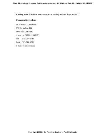 Coralie C. Lashbrook 2 - Plant Physiology