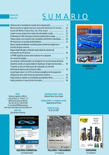 Revista de Mayo - Logistica Industrial 2000