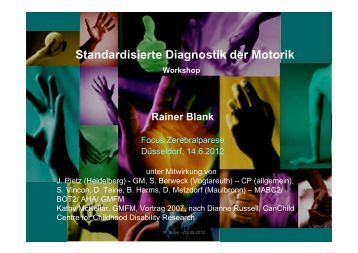 Standardisierte Diagnostik der Motorik - Kinderzentrum Maulbronn