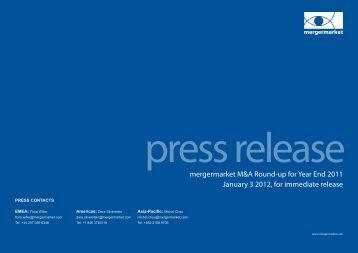 Press Release - Mergermarket