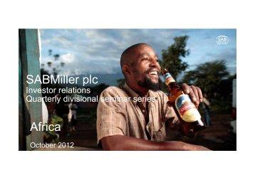Africa quarterly divisional seminar - SABMiller