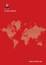 A GLOBAL AMBITION ANNuAL REPORT 2006 - Dufry