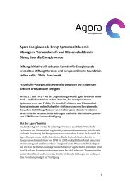 Agora nimmt Arbeit auf - Stiftung Mercator