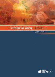 Future of Media Report 2007 - Ross Dawson
