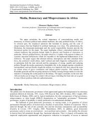 Media, Democracy and Misgovernance in Africa - EuroJournals