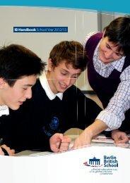 IB Handbook School Year 2012/13 - Berlin British School