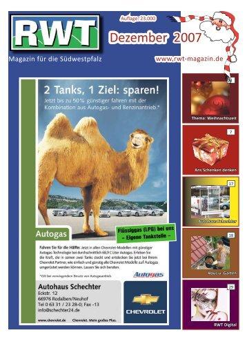 Dezember 2007 - RWT - Magazin für die Südwestpfalz